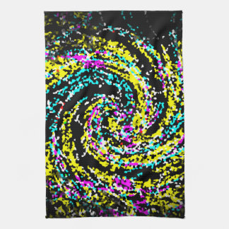 Colorful Crystallized Confetti Spiral Hand Towel