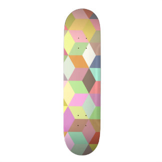 Colorful Cube Geometric 21.3 Cm Mini Skateboard Deck