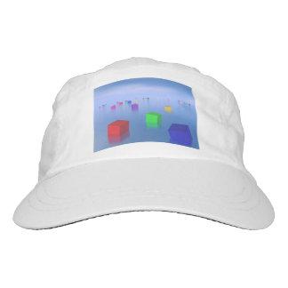 Colorful cubes floating - 3D render Hat