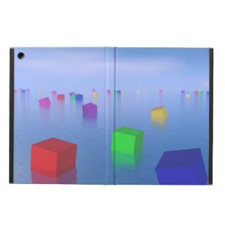 Colorful cubes floating - 3D render iPad Air Case