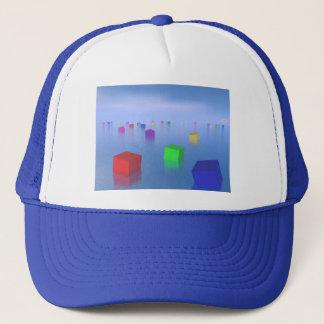 Colorful cubes floating - 3D render Trucker Hat