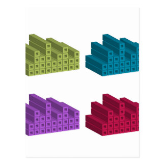 colorful cubes postcard