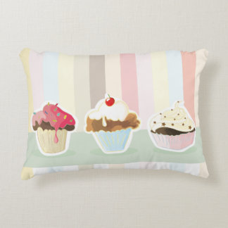 colorful cupcake decorative cushion