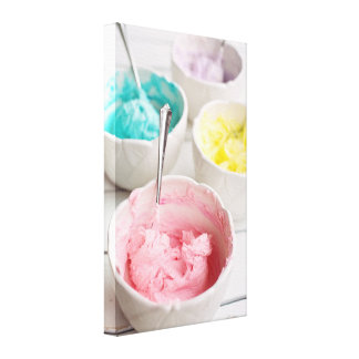 Colorful Cupcake Frosting Photograph Canvas Print