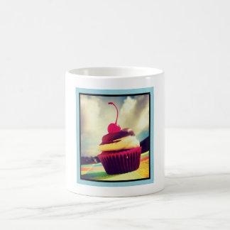 Colorful Cupcake with Cherry on Top Coffee Mug