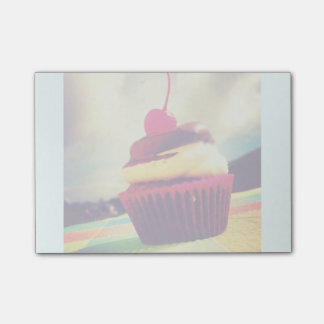 Colorful Cupcake with Cherry on Top Post-it® Notes