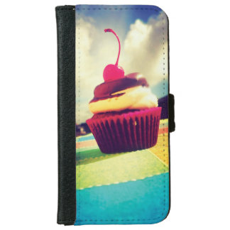 Colorful Cupcake with Cherry on Top iPhone 6 Wallet Case