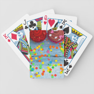 colorful cupcakes bicycle playing cards