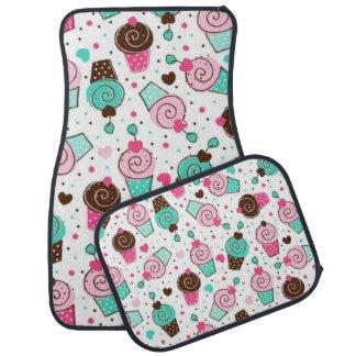 colorful cupcakes car mat