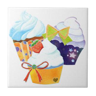 Colorful Cupcakes Kitchen Trivet Deco Tiles