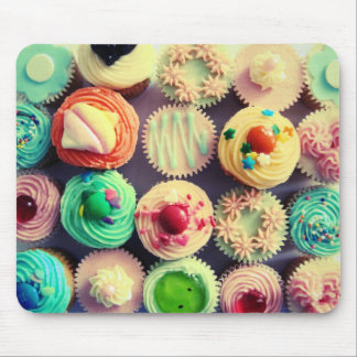 Colorful cupcakes mousepad