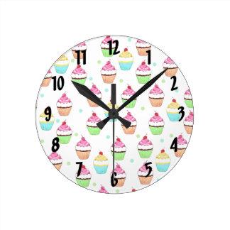 Colorful Cupcakes Wall Clock