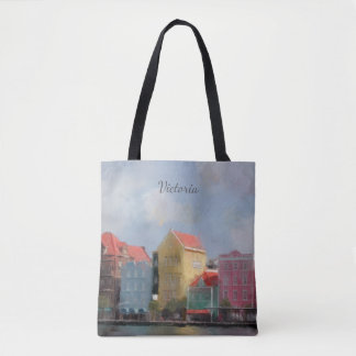 Colorful Curacao Personalized Tote Bag