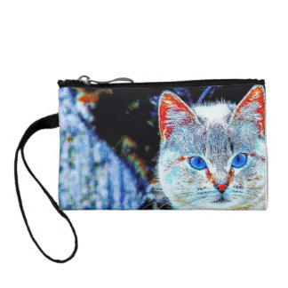 Colorful Curious Cats Key Coin Clutch Coin Wallet
