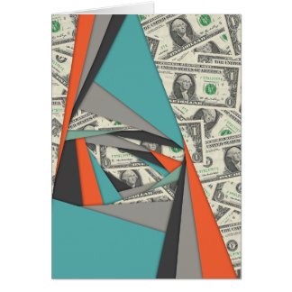Colorful Currency Collage Card