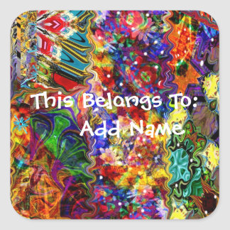 Colorful Customizable Art Square Sticker