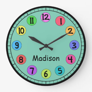 Colorful Customizable Big Number Clock