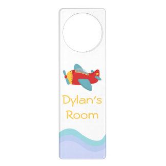 Colorful, Cute Aeroplane for boys room Door Hanger