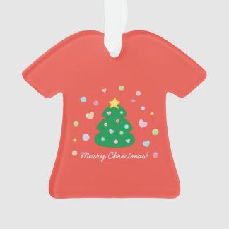 Colorful Cute Festive Merry Christmas Tree Ornament
