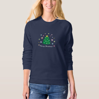 Colorful Cute Festive Merry Christmas Tree Sweatshirt