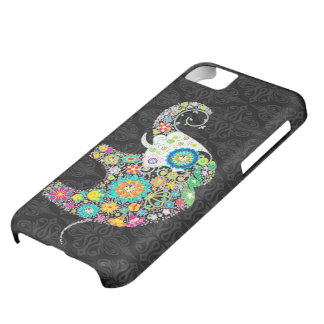 Colorful Cute Flower Elephant Illustration iPhone 5C Case