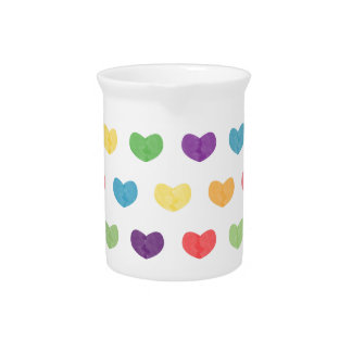 Colorful Cute Hearts VI Pitcher