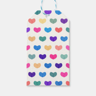 Colorful Cute Hearts X Gift Tags