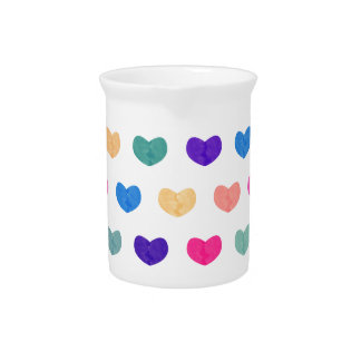 Colorful Cute Hearts X Pitcher