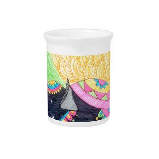 Colorful cute little madhubani elephant pitcher