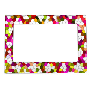Colorful Cute Modern Trendy Pattern Magnetic Picture Frame