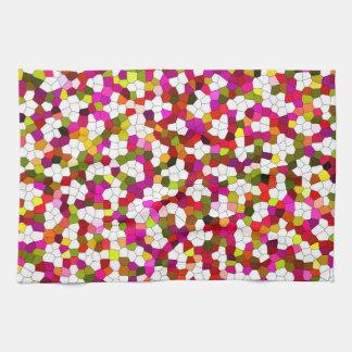Colorful Cute Modern Trendy Pattern Tea Towel