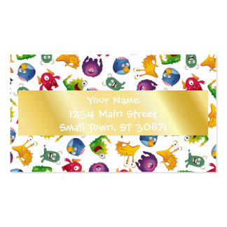 Colorful Cute Monsters Fun Cartoon Double-Sided Standard Business Cards (Pack Of 100)