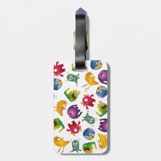 Colorful Cute Monsters Fun Cartoon Travel Bag Tags