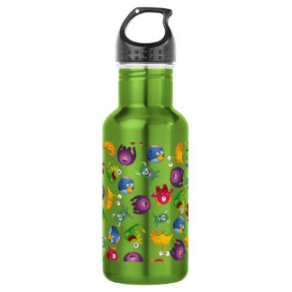 Colorful Cute Monsters Fun Cartoon 18oz Water Bottle