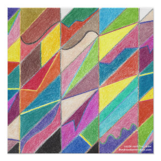 Colorful Cuts and Facets Poster