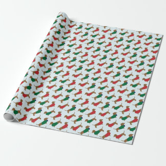 Colorful Dachshund Dogs Wrapping Paper