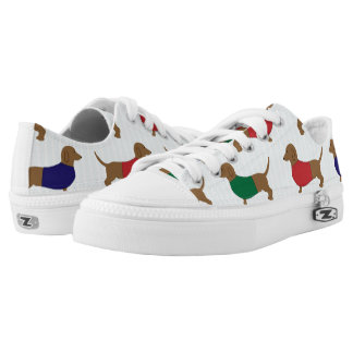 Colorful Dachshund Wiener Dogs Zipz Low Top Shoes