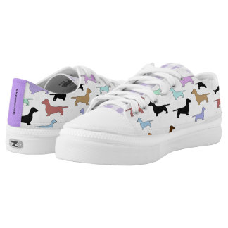Colorful Dachshunds ZipZ Tennis Shoes Printed Shoes