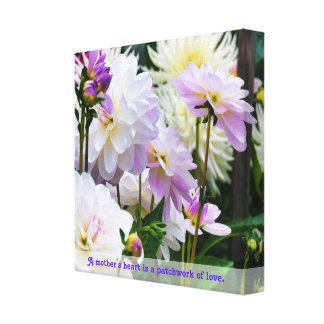 Colorful Dahlia Garden Stretched Canvas Print