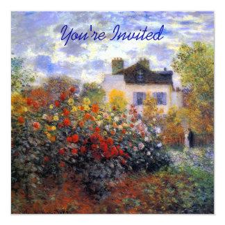 Colorful Dahlia Garden of Monet 13 Cm X 13 Cm Square Invitation Card