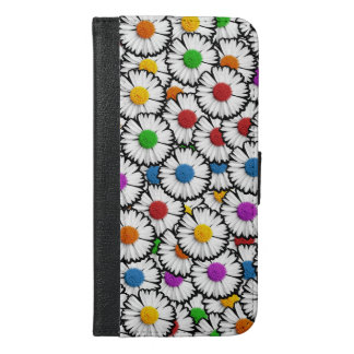 Colorful daisies iPhone 6/6s plus wallet case