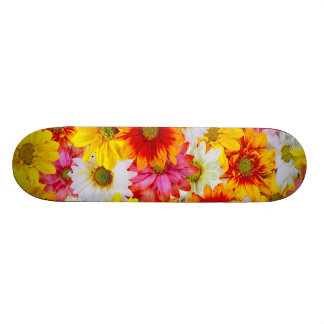 Colorful daisies skateboard deck