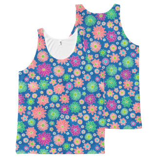 Colorful Daisy Flowers All-Over Print Singlet