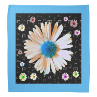Colorful daisy heaven bandana