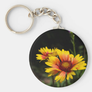 Colorful Daisys Basic Round Button Key Ring