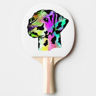 Colorful Dalmatian Ping Pong Paddle
