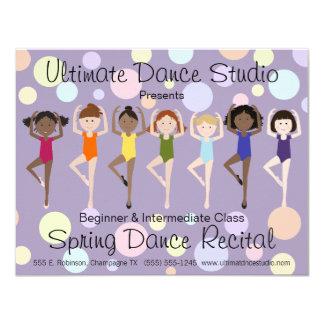 Colorful Dance Recital Invitation