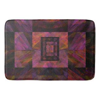 Colorful Dark Galaxy Of Blocks Artwork Bath Mats