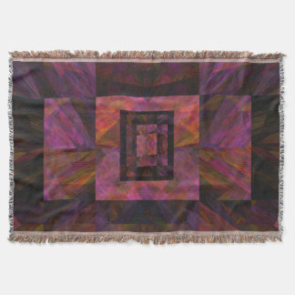 Colorful Dark Galaxy Of Blocks Artwork Throw Blanket