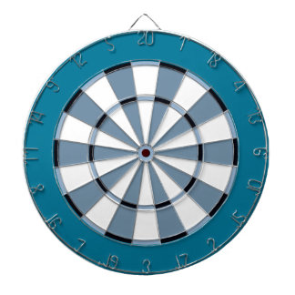 Colorful Dart Board in Blue